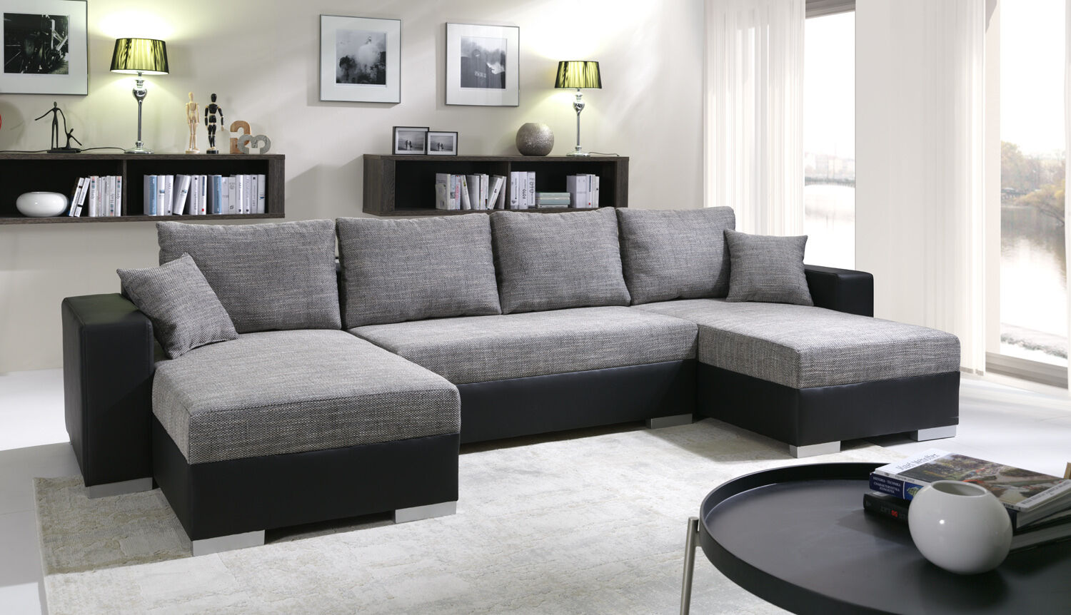 sofa couchgarnitur couch sofagarnitur u 4112200 6. Black Bedroom Furniture Sets. Home Design Ideas