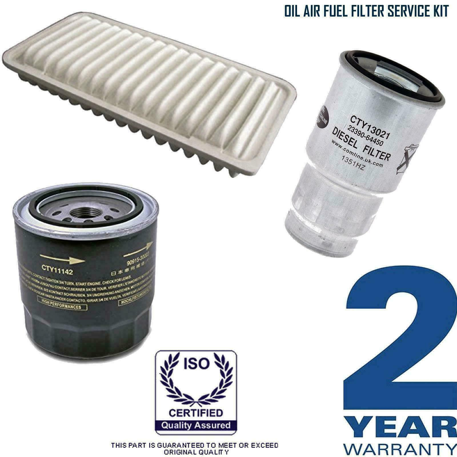 Toyota Corolla Verso 20 D4d T Spirit Oil Air Fuel Filter Location 1 Of 1free Shipping