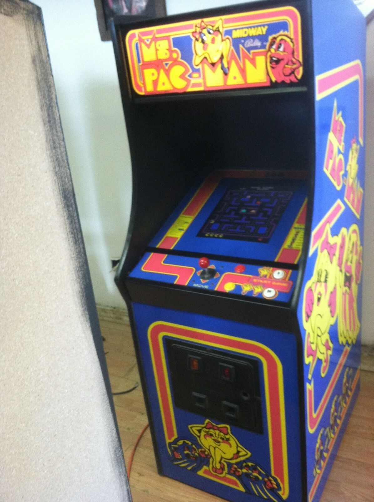 ms pac arcade machine