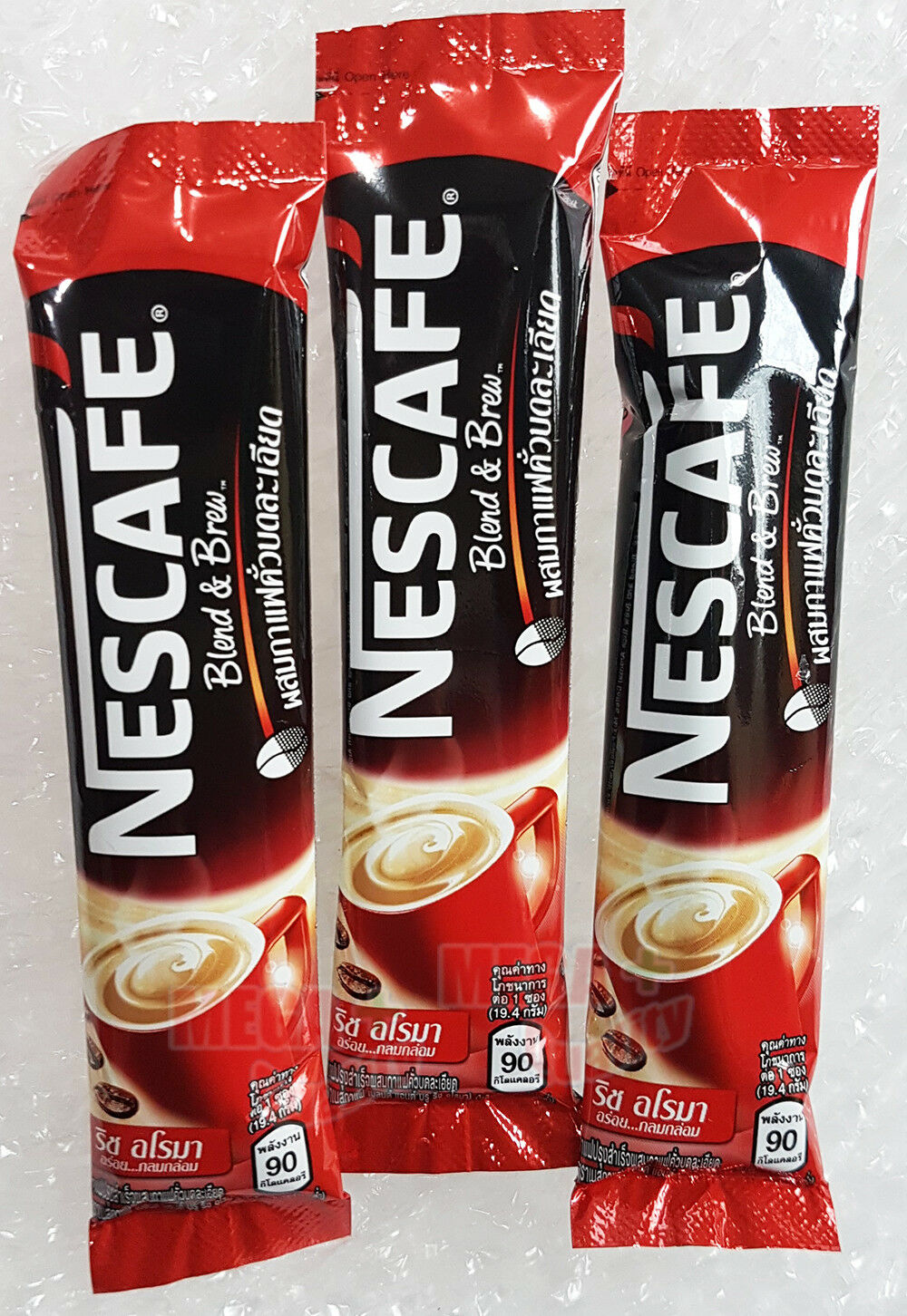 Original Nescafe 3 In 1 Rich Aloma Taste Instant Coffee Mix Powder 3 Sticks