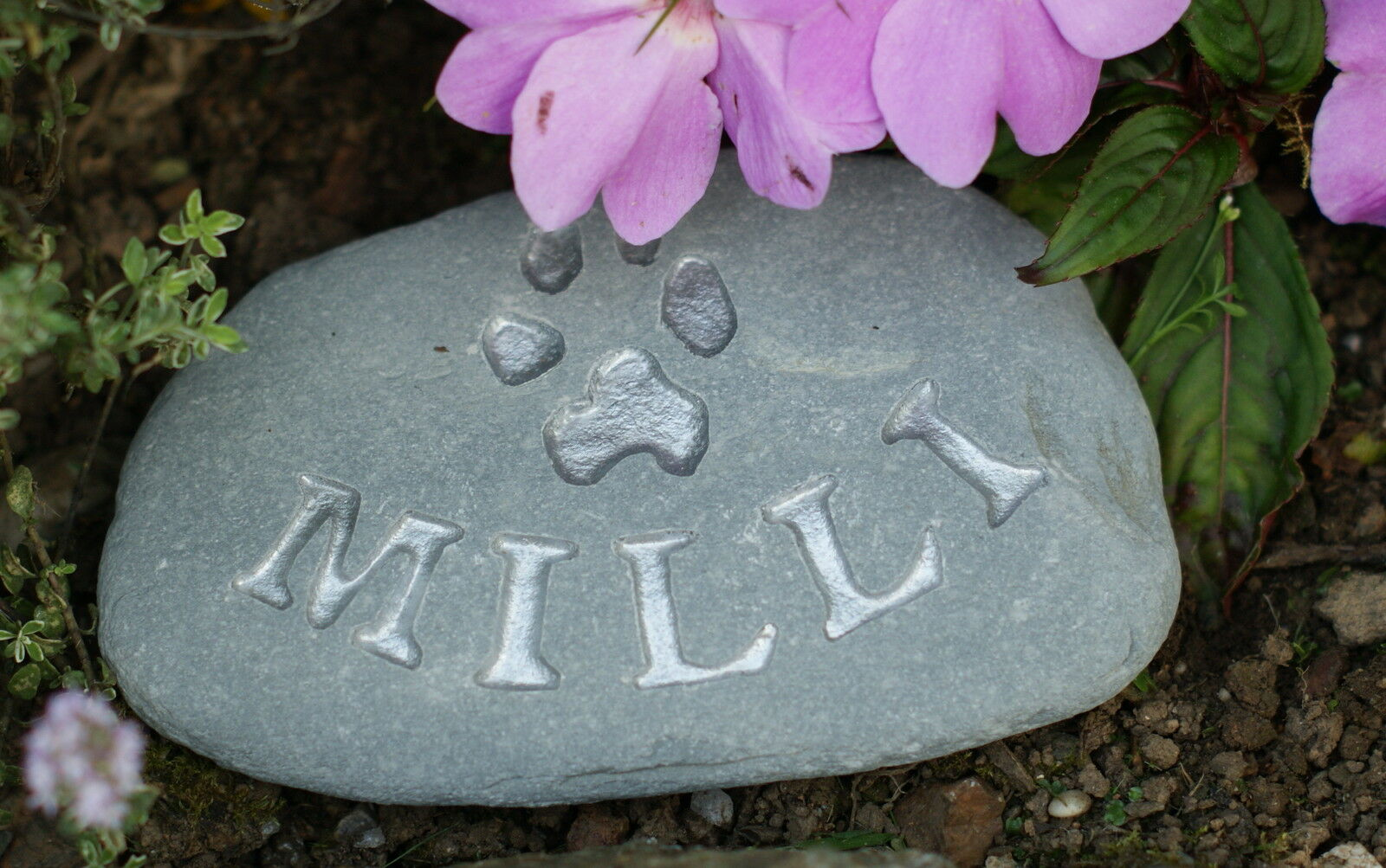 Hand carved, Personalised Pet Memorial stone, dog, cat, grave marker, rabbit