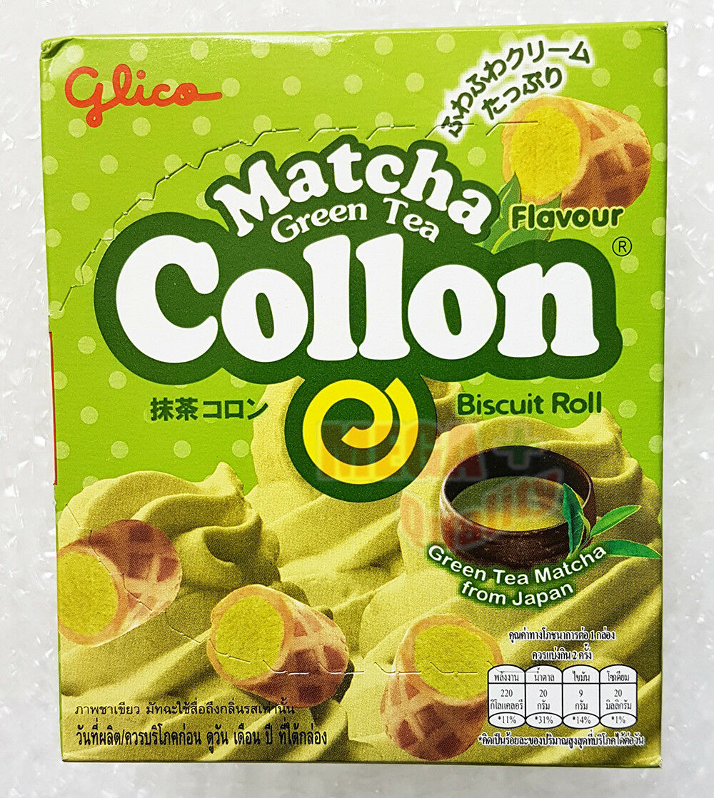 Glico Collon Biscuit Roll Matcha GREEN TEA Flavour Japanese Style Snacks 46g