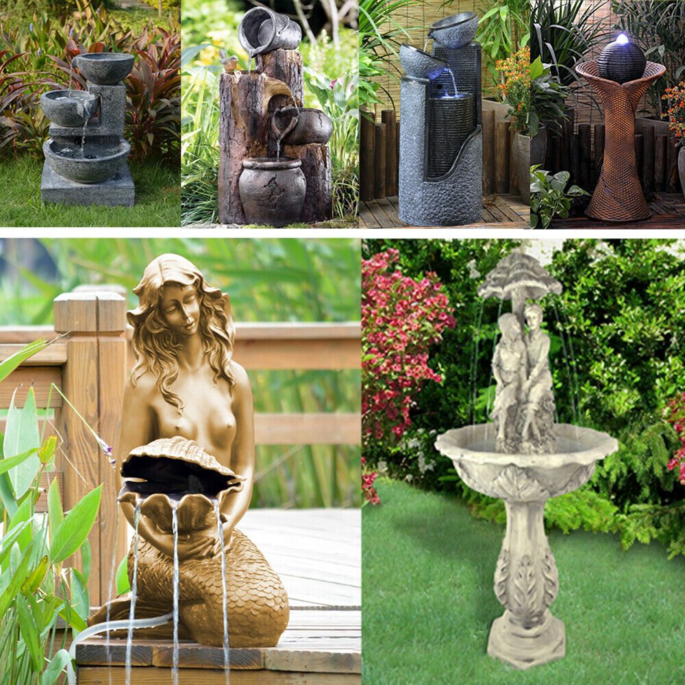 solar teichpumpe gartenbrunnen wasserspiel zierbrunnen spring brunnen teich akku chf. Black Bedroom Furniture Sets. Home Design Ideas