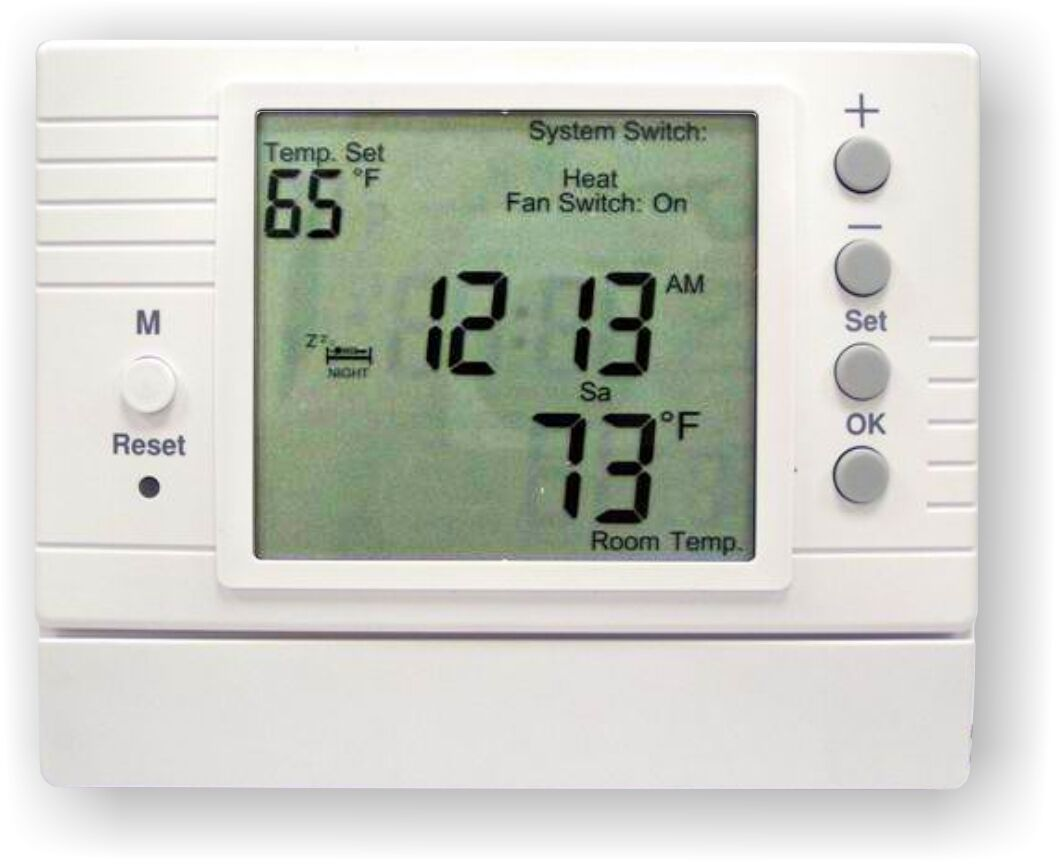 PROGRAMMABLE DIGITAL THERMOSTAT FOR HYDRONIC RADIANT FLOOR HEATING #607754
