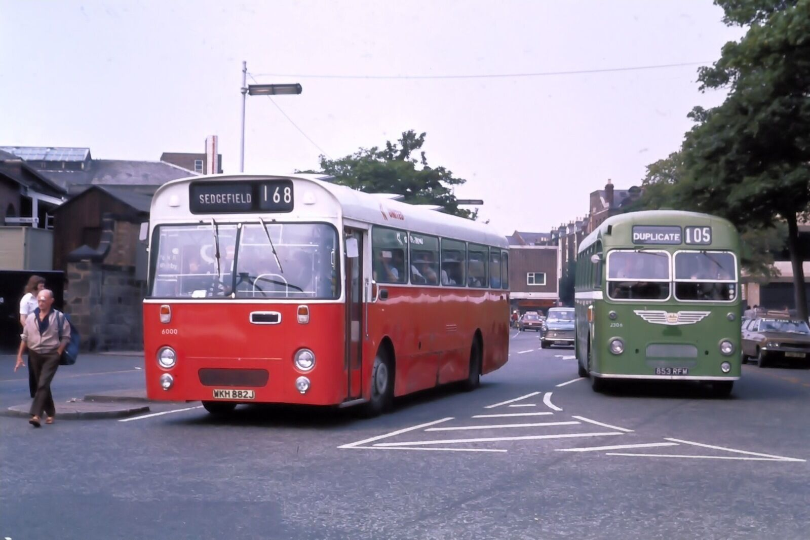 United 6000 and 2306 ex crosville scarborough 14 08 76 bus for 76 2306 3