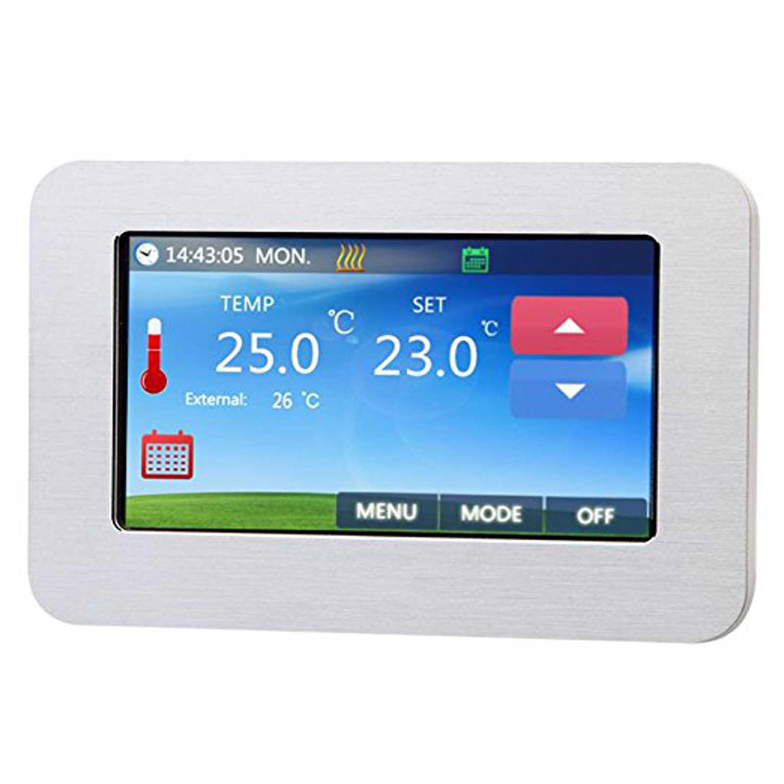 digital thermostat unterputz 4 3 touchscreen. Black Bedroom Furniture Sets. Home Design Ideas