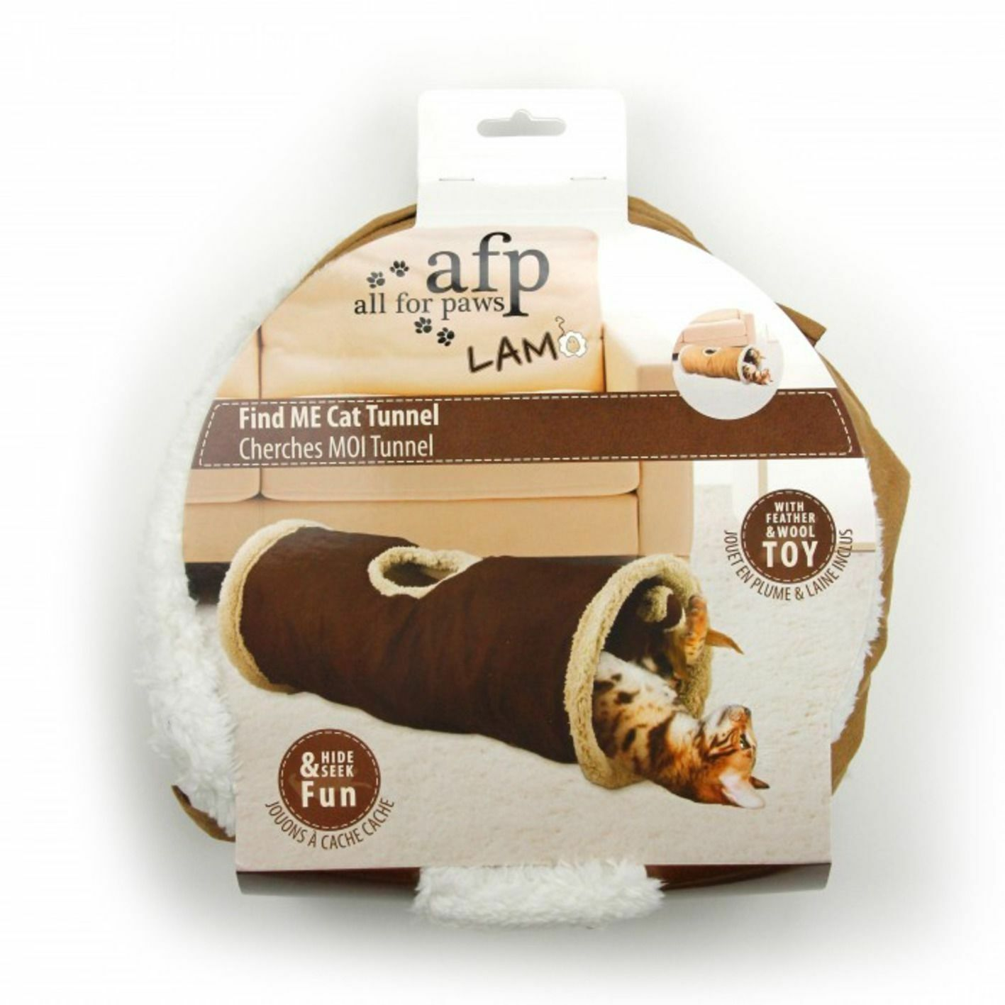 All For Paws Cat Tunnel With Lambswool and Toy