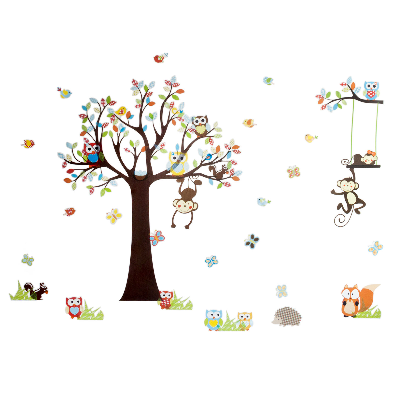 wandtattoo wandsticker kinderzimmer xxl deko tiere kinder wald affe baum baby eur 9 90. Black Bedroom Furniture Sets. Home Design Ideas