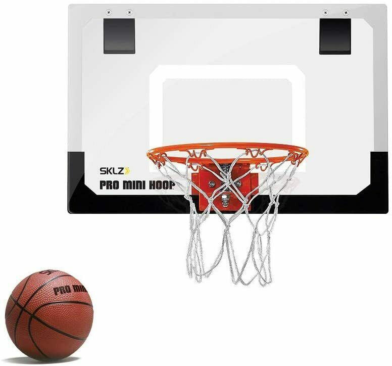 Indoor Mini Basketball Hoop Door Mount NBA Backboard Ball Kids Small Office  Port 1 Of 6Only 1 Available Indoor Mini Basketball Hoop ...