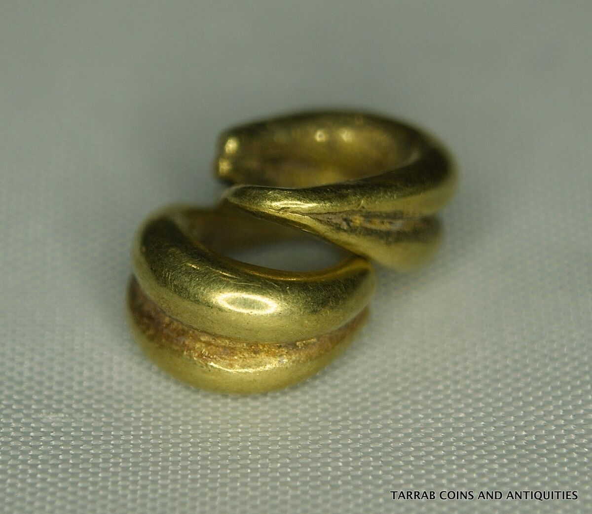 Ancient Roman Solid Gold Earrings  100 B.c. - 200 A.d.! A Charming Pair!