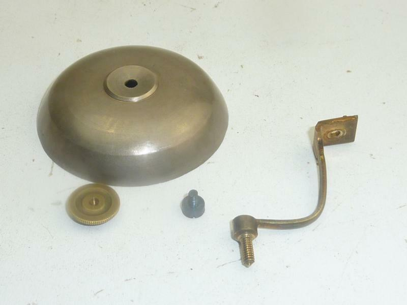 old Antique French Bells with Holder 5-5,5cm  from circa 1890