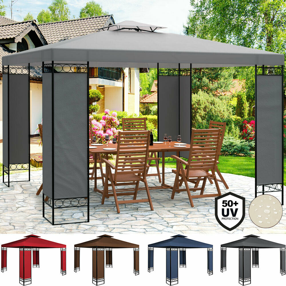 pavillon partyzelt festzelt gartenzelt bierzelt pavillion zelt garten 3x3m lorca eur 129 95. Black Bedroom Furniture Sets. Home Design Ideas