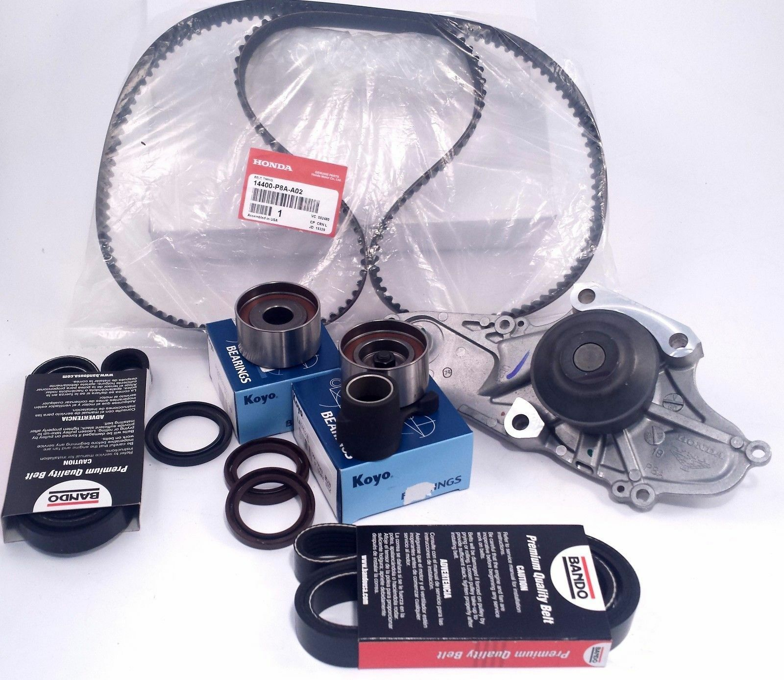 New Complete Acura CL Genuine Timing Belt & Genuine Water Pump Service Kit  1 of 3FREE Shipping ...