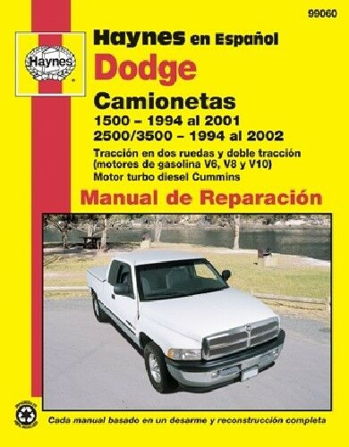 Repair Manual Haynes 99060 fits 94-01 Dodge Ram 1500 1 of 1Only 0 available  ...