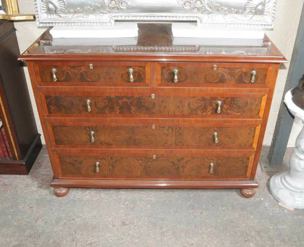 Walnut Regency Chest Drawers Commode Furniture