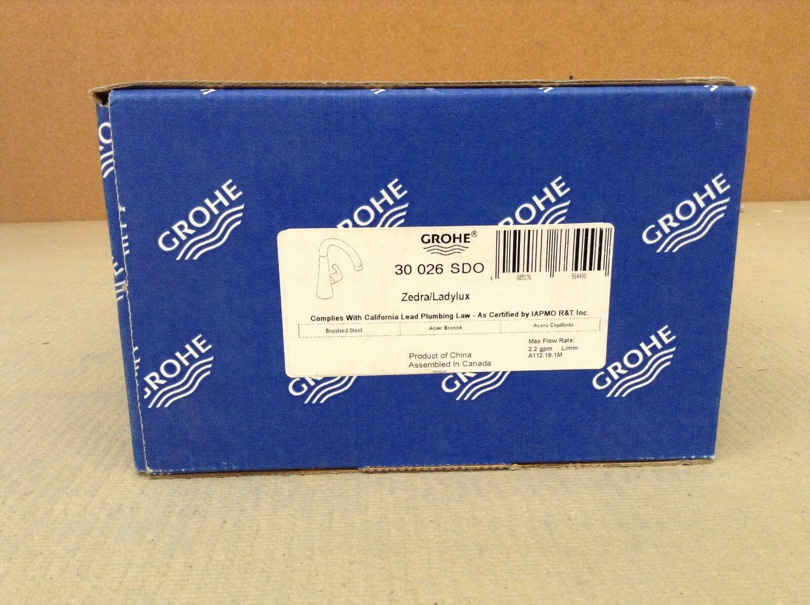 GROHE LADYLUX Single Hole BASIN/PILAR TAP Faucet 30026SD0 Stainless ...
