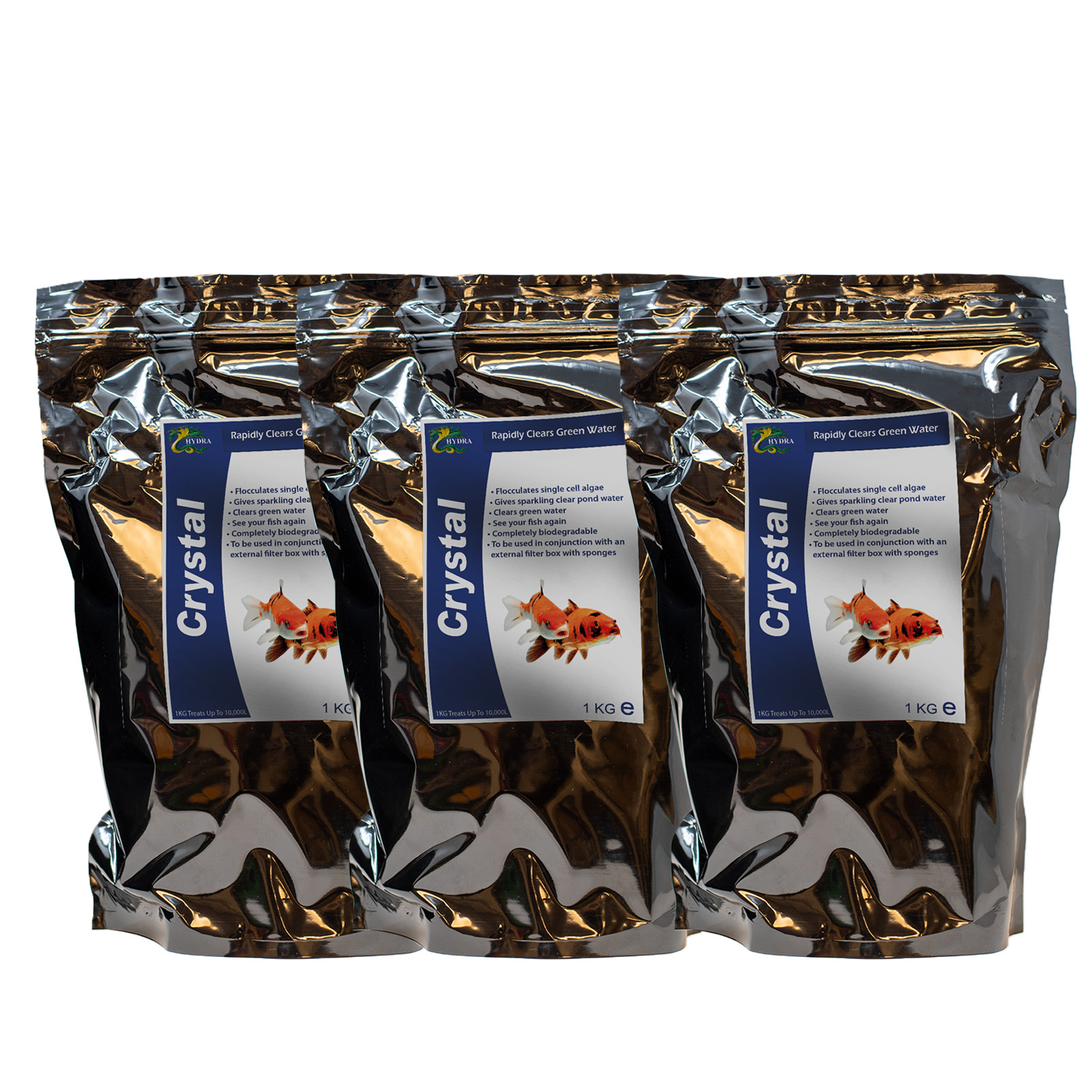 Pond Fish Green Water Treatment HYDRA CRYSTAL QTY. 3 of 1KG