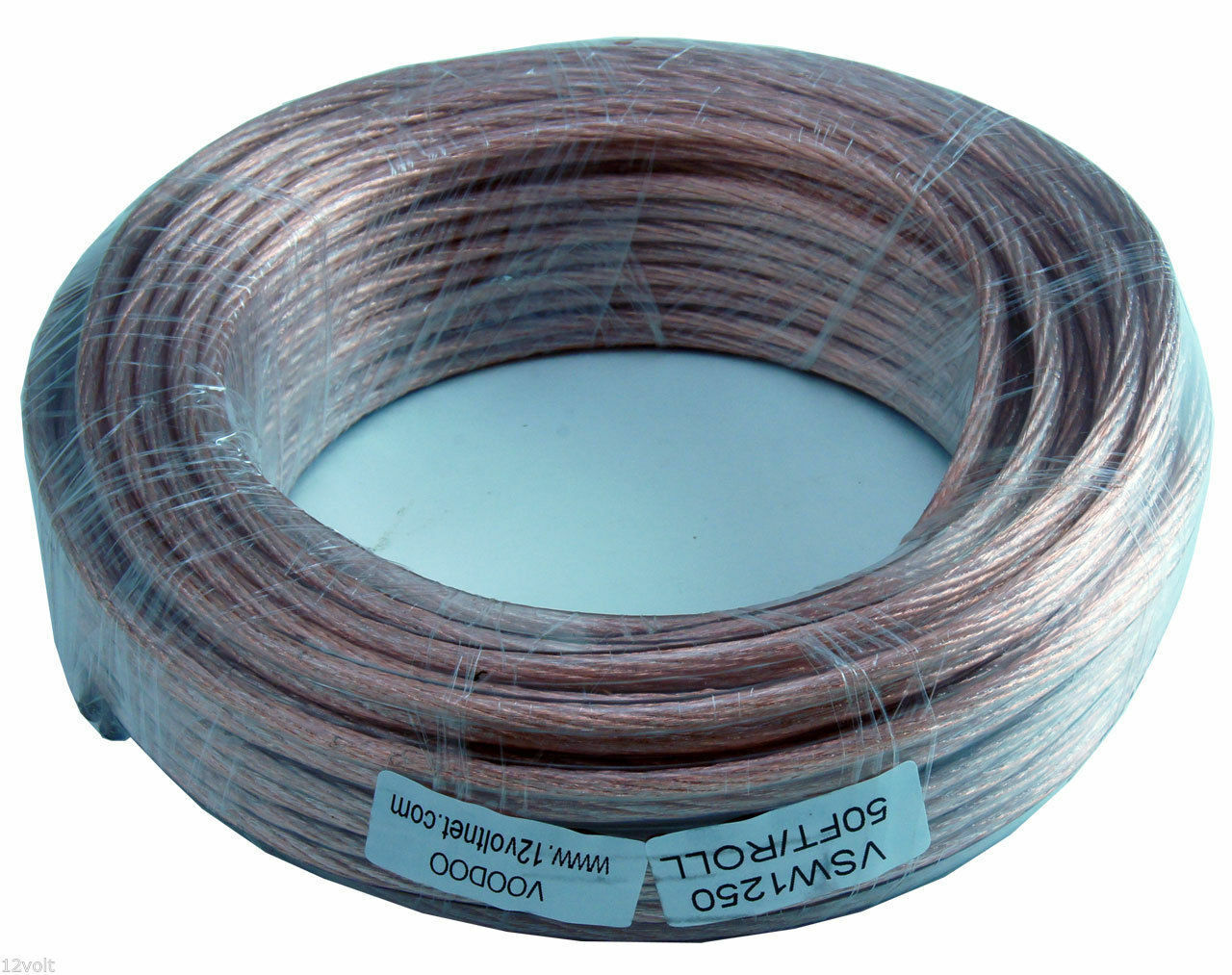 VOODOO CLEAR SPEAKER Wire 12 gauge AWG true american wire gauge spec ...