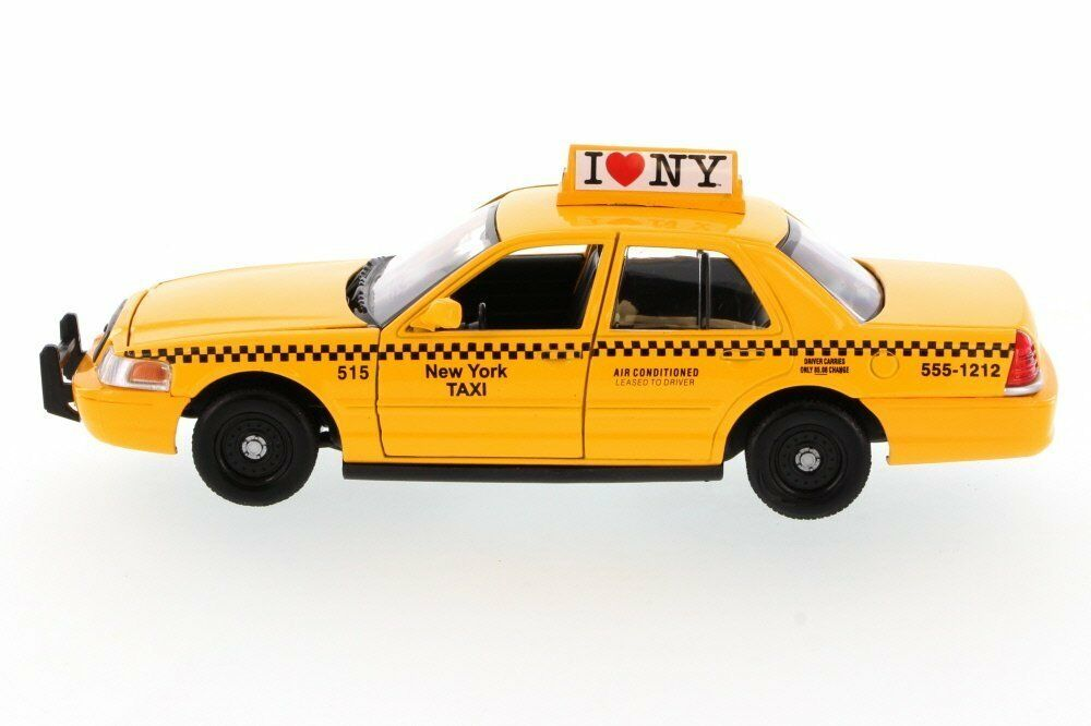 Ford Crown Victoria 124 Diecast Model New York Yellow Taxi Cab 1980 1 Of 4 See More