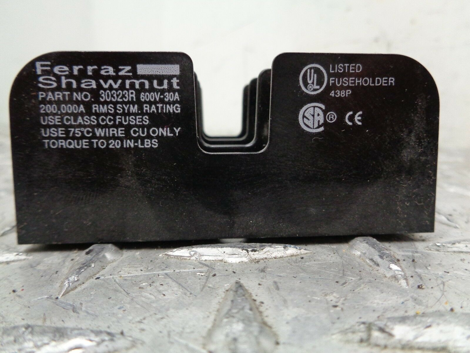 Ferraz Shawmut 30323r Fuse Block 30amp 3pole 600vac Lot Of 5 A 30 Amp Box Wire 1 1only Available