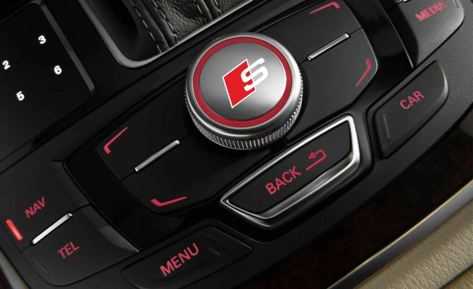 audi s line mmi idrive button decal sticker logo a3 a4 a5. Black Bedroom Furniture Sets. Home Design Ideas