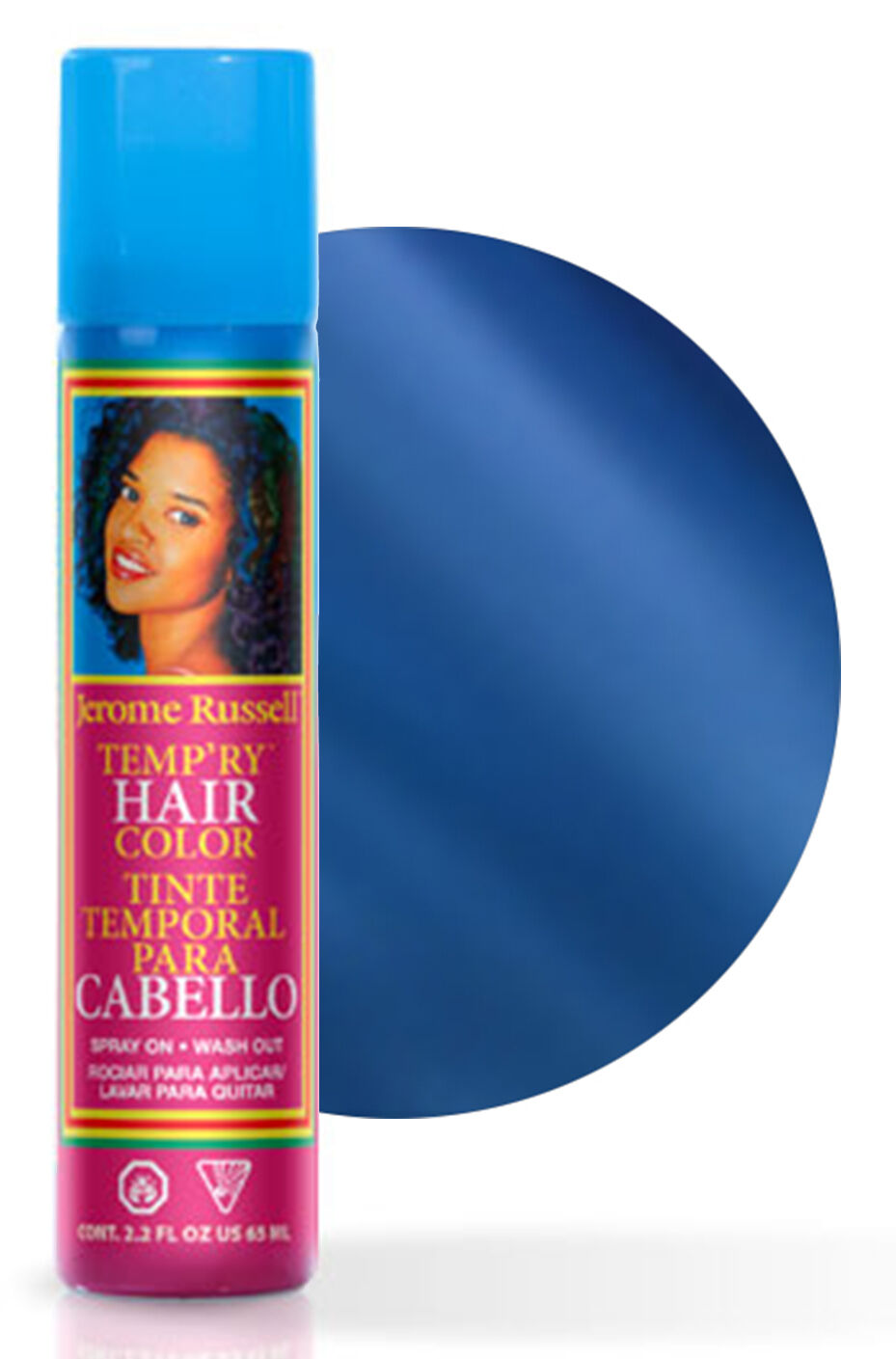 Jerome Russell Tempry Temporary Hair Color Spray 65ml Blue 596