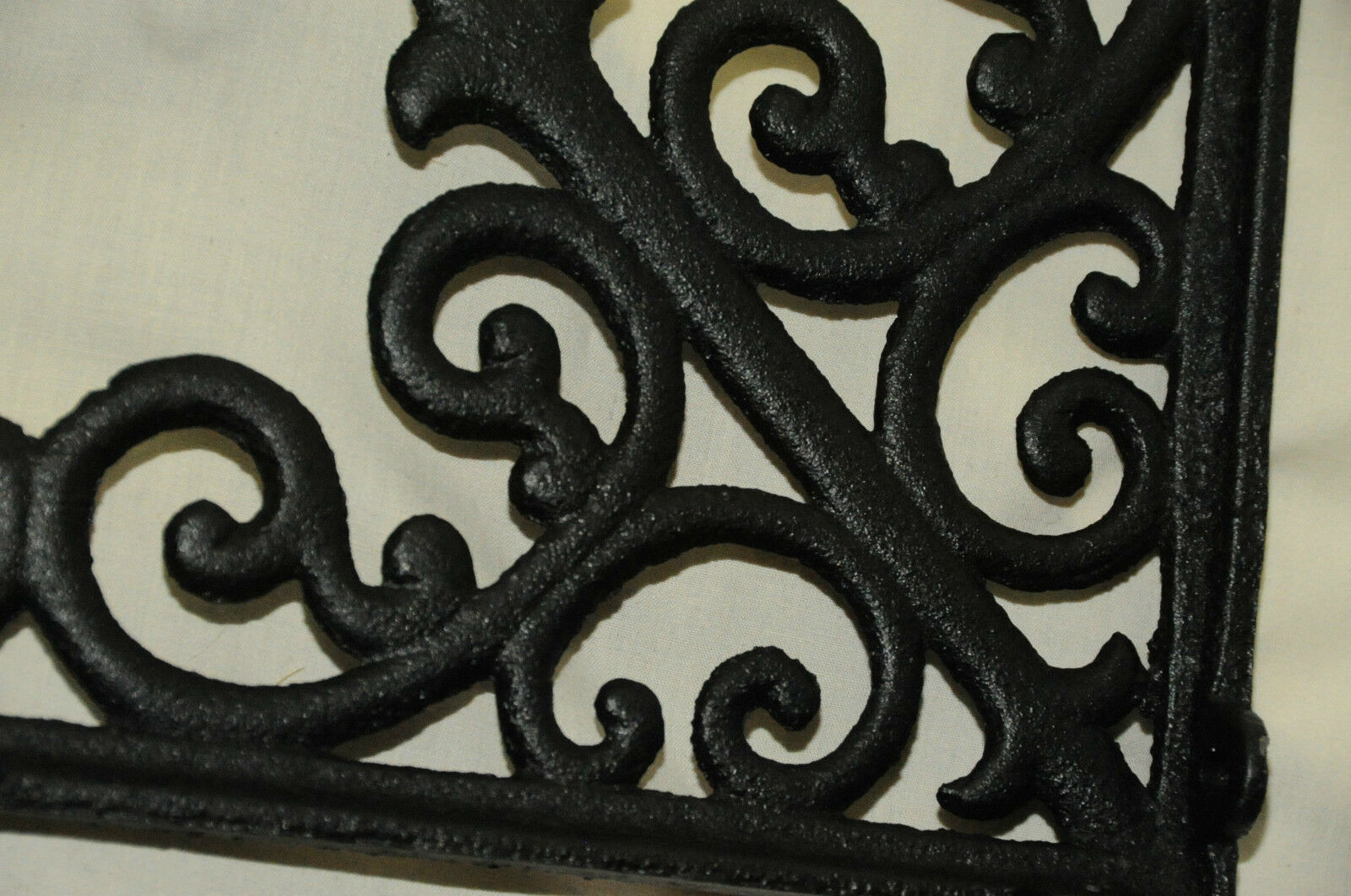 NEW (2) Tuscan Blk Iron Corbels shelf brackets, counter top support, cornices
