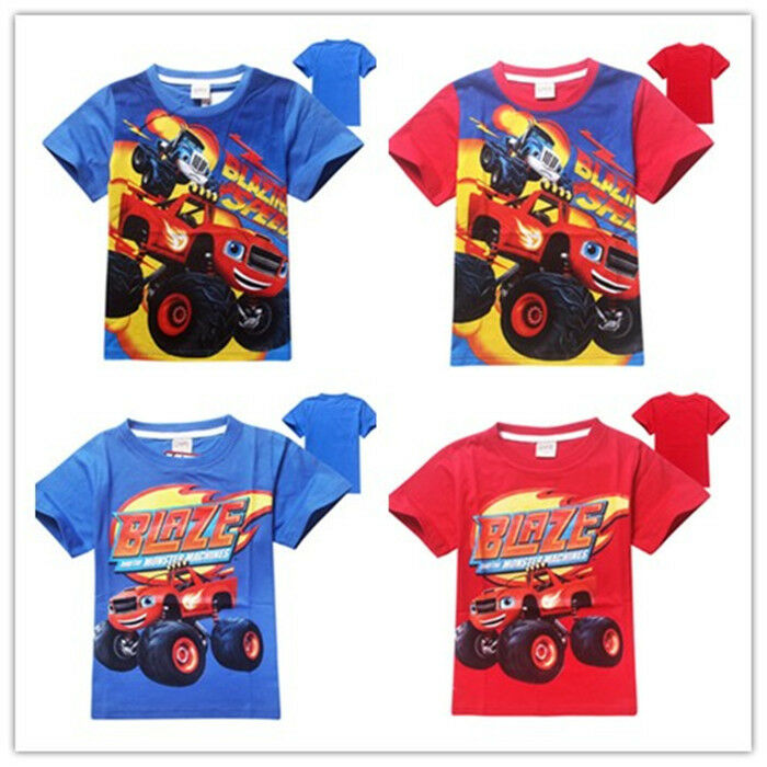 Blaze and the monster machines tops kid casual cartoon t for Blaze cartoni