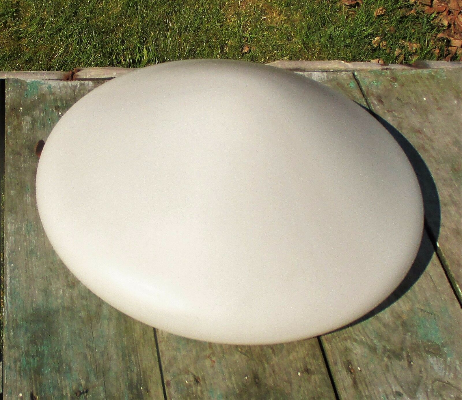 Vintage Large UFO Flying Saucer Shade Fixture Lamp White Glass Stunning