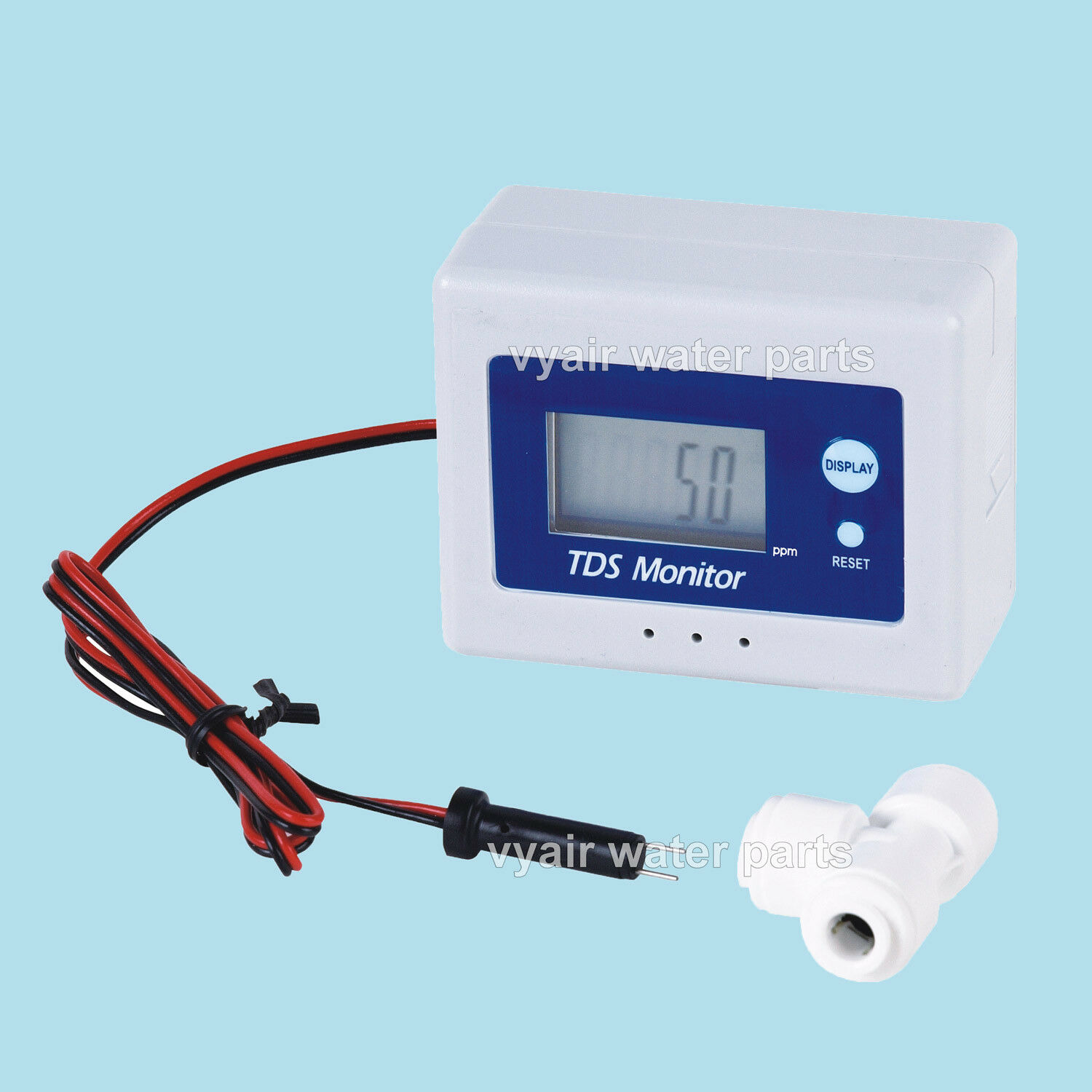 """1/4"""" Inline Dual Mode TDS Meter With LCD Display & Programmable TDS Alarm"""