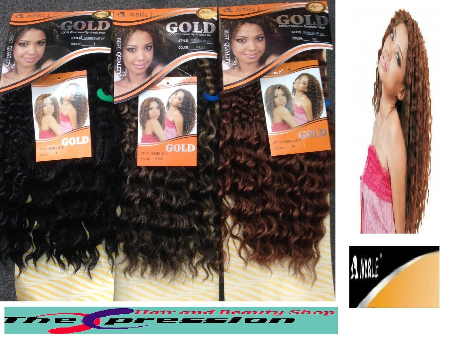 Sleek Noble Gold Runner Up Weave Hair Extensions 14 Inch