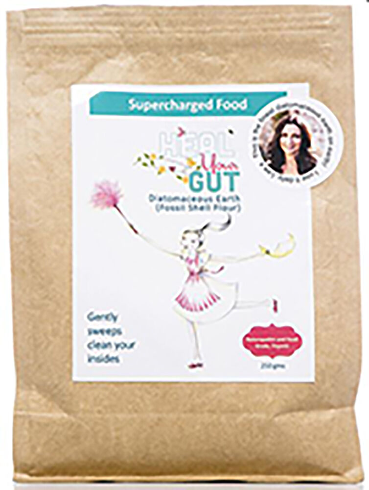2 x Supercharged Food Heal Your Gut Diatomaceous Earth 250g + 2 FREE GIFTS