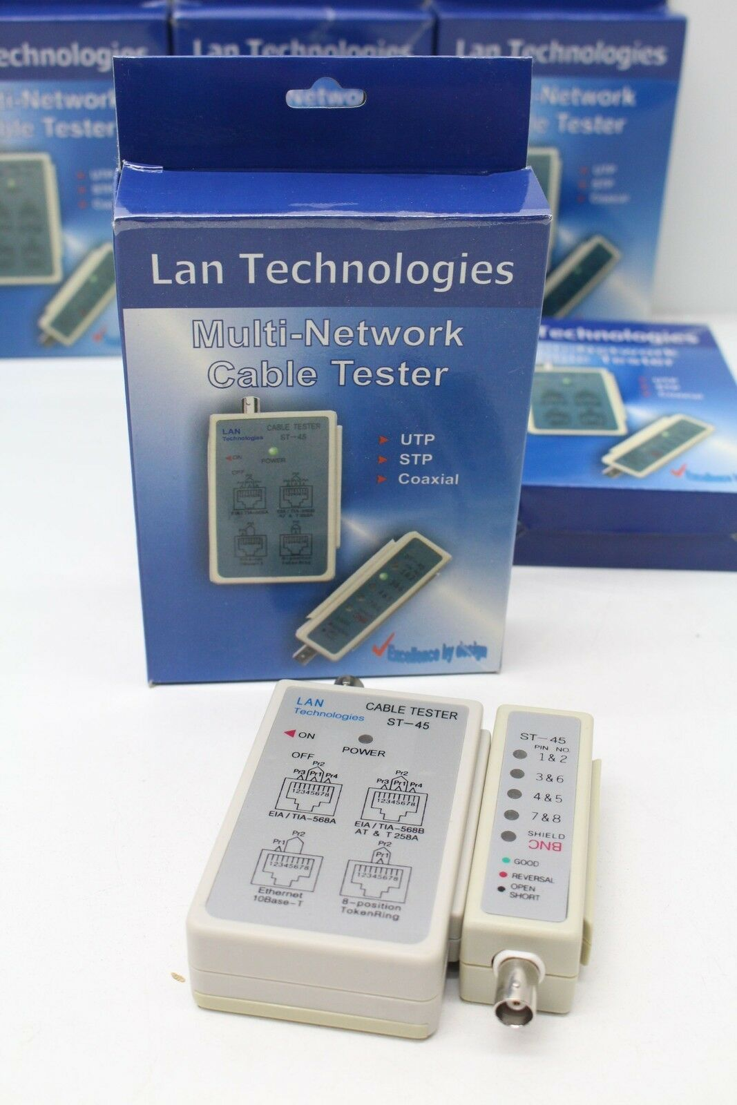 Lan Technologies St 45 Multi Network Cable Tester Utp Stp Coaxial Modular Cables 1 Of 2free Shipping See More