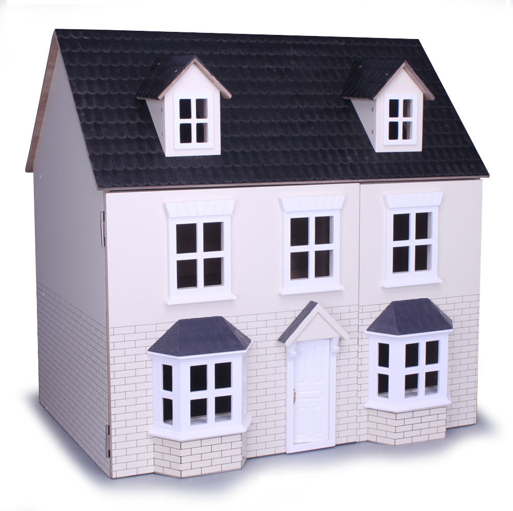 Cream Brick Two Storey Dolls House Kit Form Collector