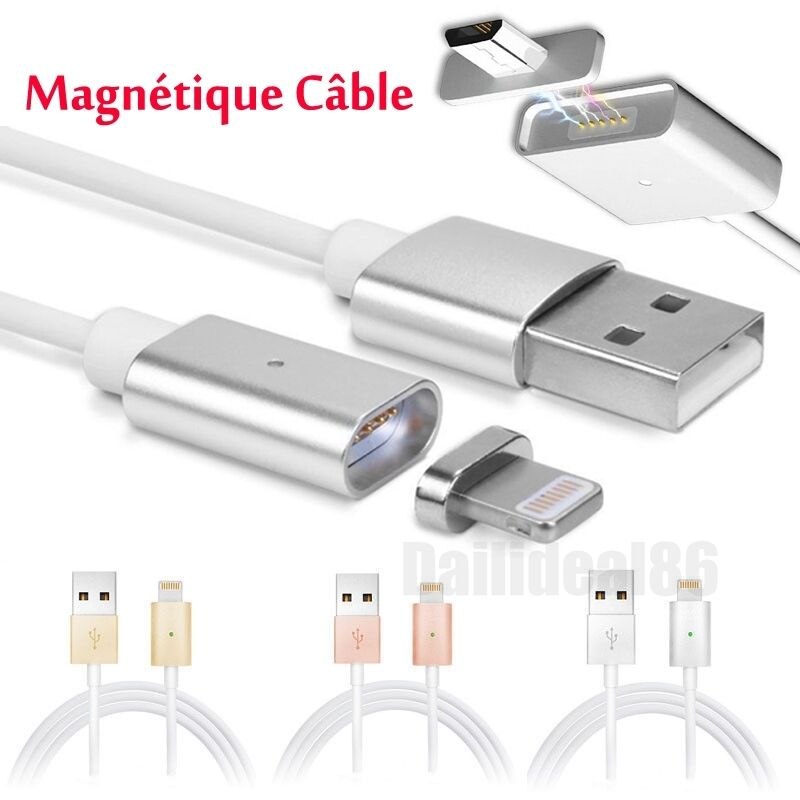 1m magn tique usb charging c ble chargeur pour iphone android samsung micro usb eur 3 59. Black Bedroom Furniture Sets. Home Design Ideas