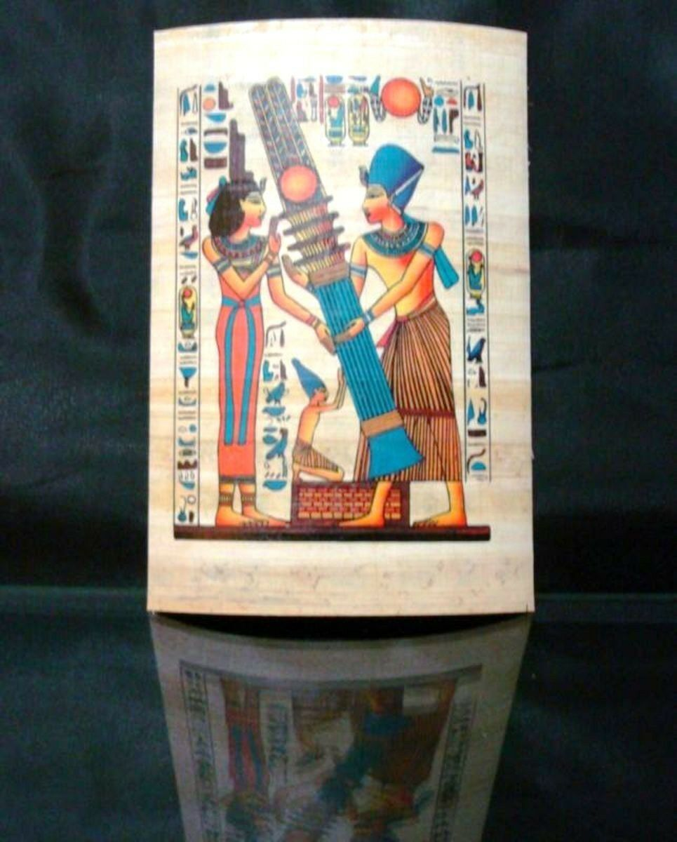 Ancient Egyptian Papyrus Wonderfully Handmade Colorful Piece Superior Quality -G