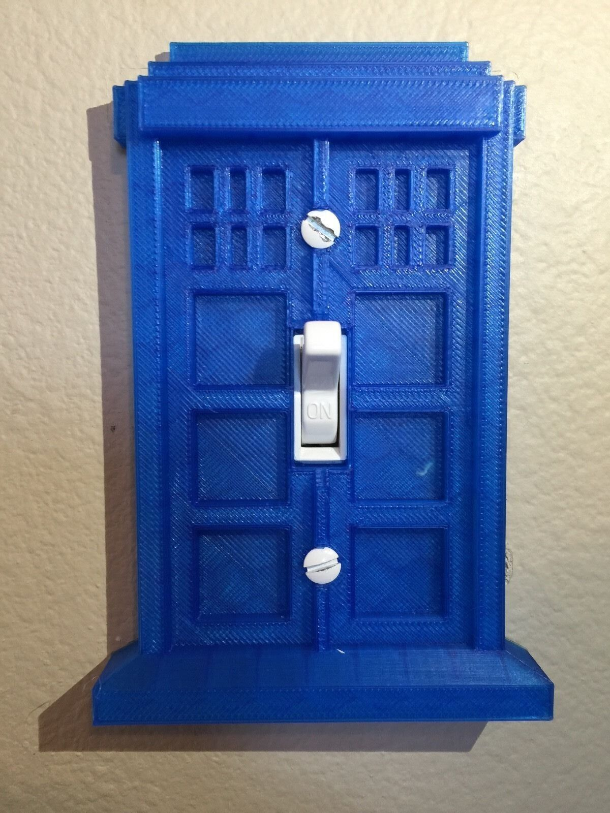 Tardis doctor who light switch cover plate picclick for Tardis light switch cover