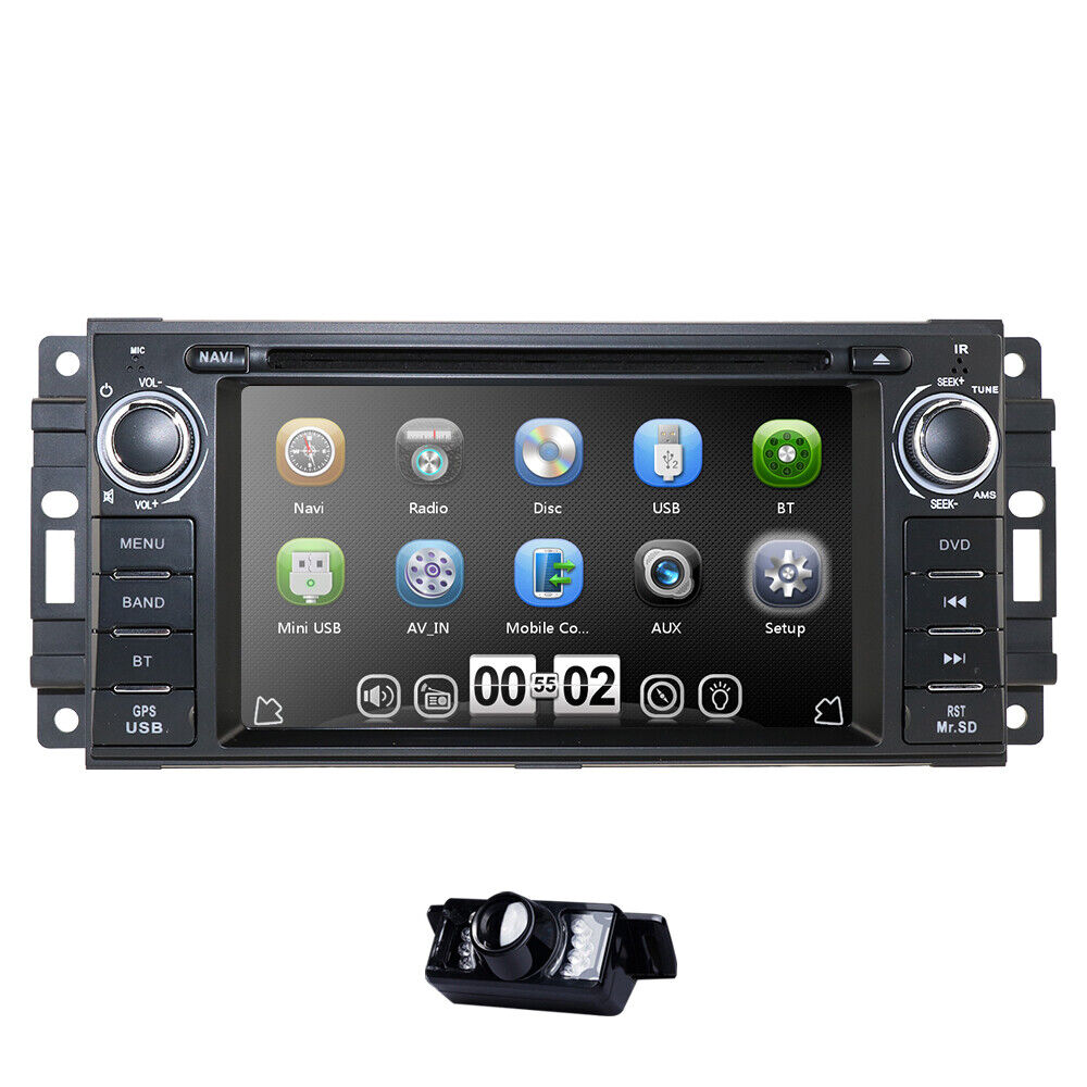 Camera Single 1din Car Radio Stereo Gps Dvd Cd Player Canbus For Jeep Wrangler Double Din 1 Of 6only 2 Available