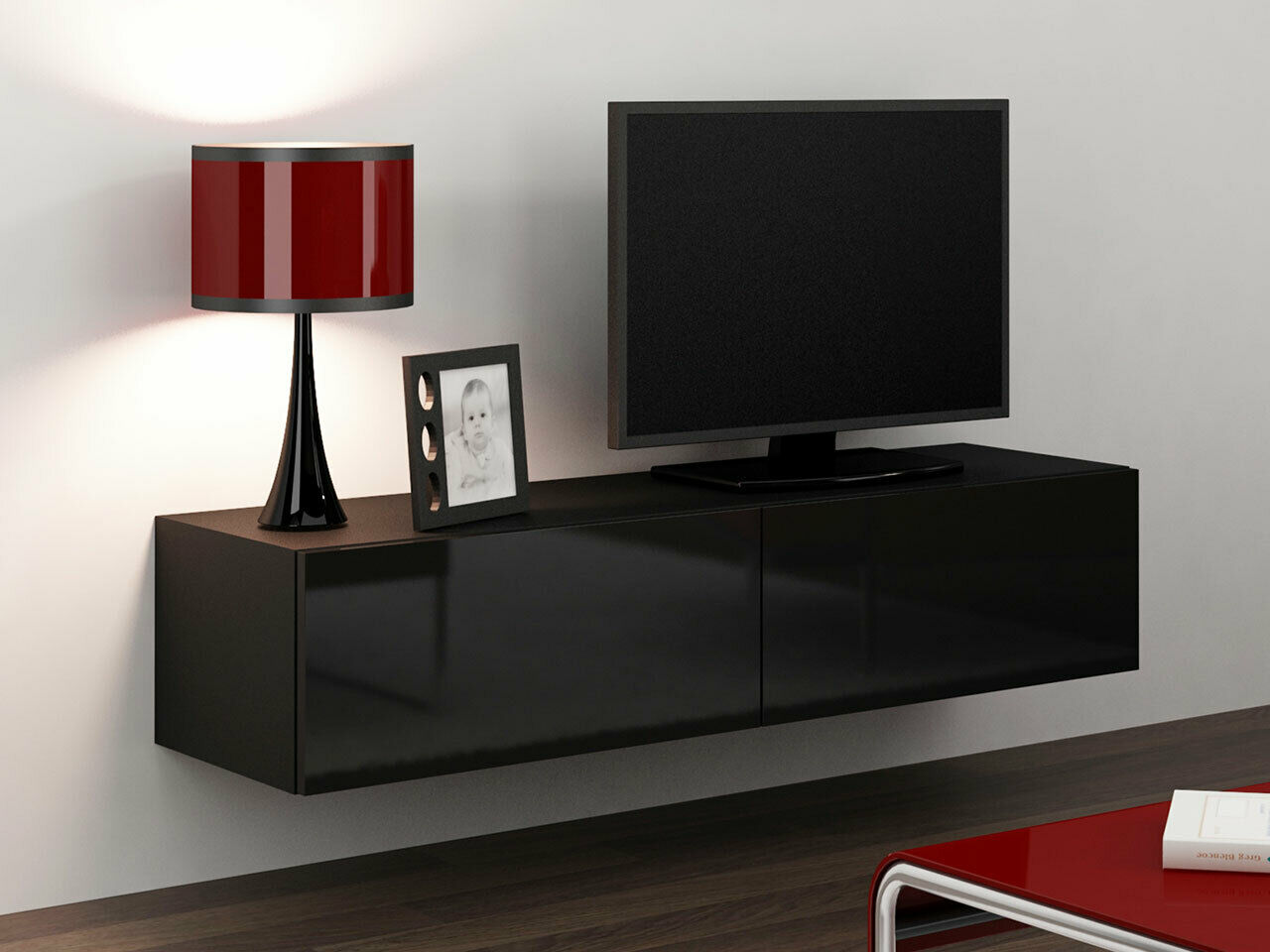 h nge tv schrank lucas 140 tv kommode lowboard h ngeschrank farbauswahl h ngend eur 99 00. Black Bedroom Furniture Sets. Home Design Ideas