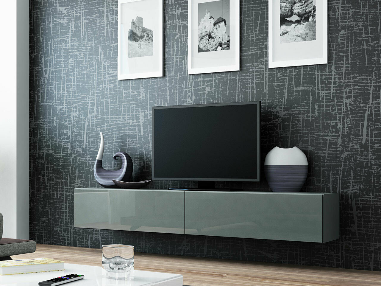h nge tv schrank lucas 180 tv kommode lowboard. Black Bedroom Furniture Sets. Home Design Ideas