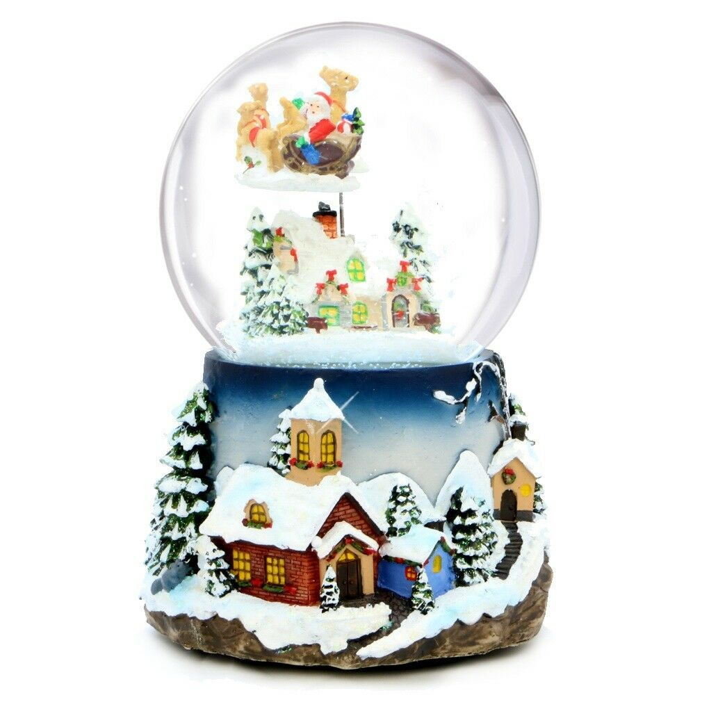 santa claus christmas musical snow globe holiday souvenir collectible gift 1 of 2only 1 available - Christmas Musical Snow Globes