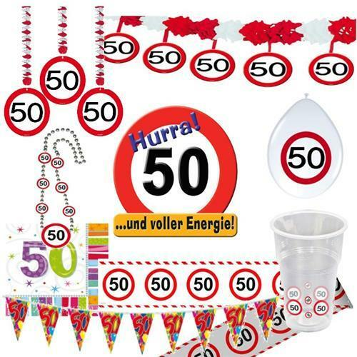 party dekoration 50 geburtstag verkehrsschild tischdeko schild jubil um 50 eur 1 59 picclick de. Black Bedroom Furniture Sets. Home Design Ideas