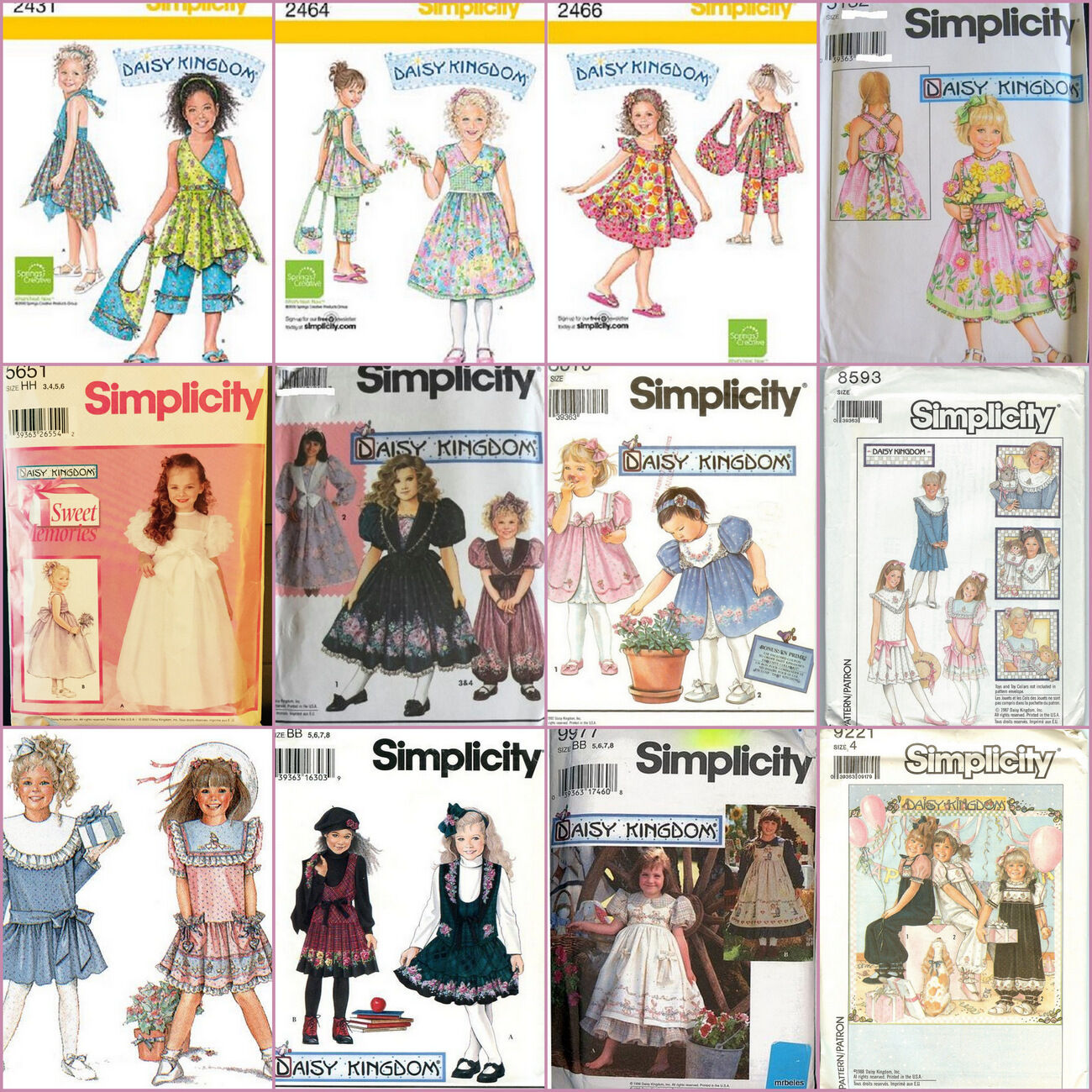 OOP DAISY Kingdom Simplicity Sewing Pattern Girls Childs Toddler ...