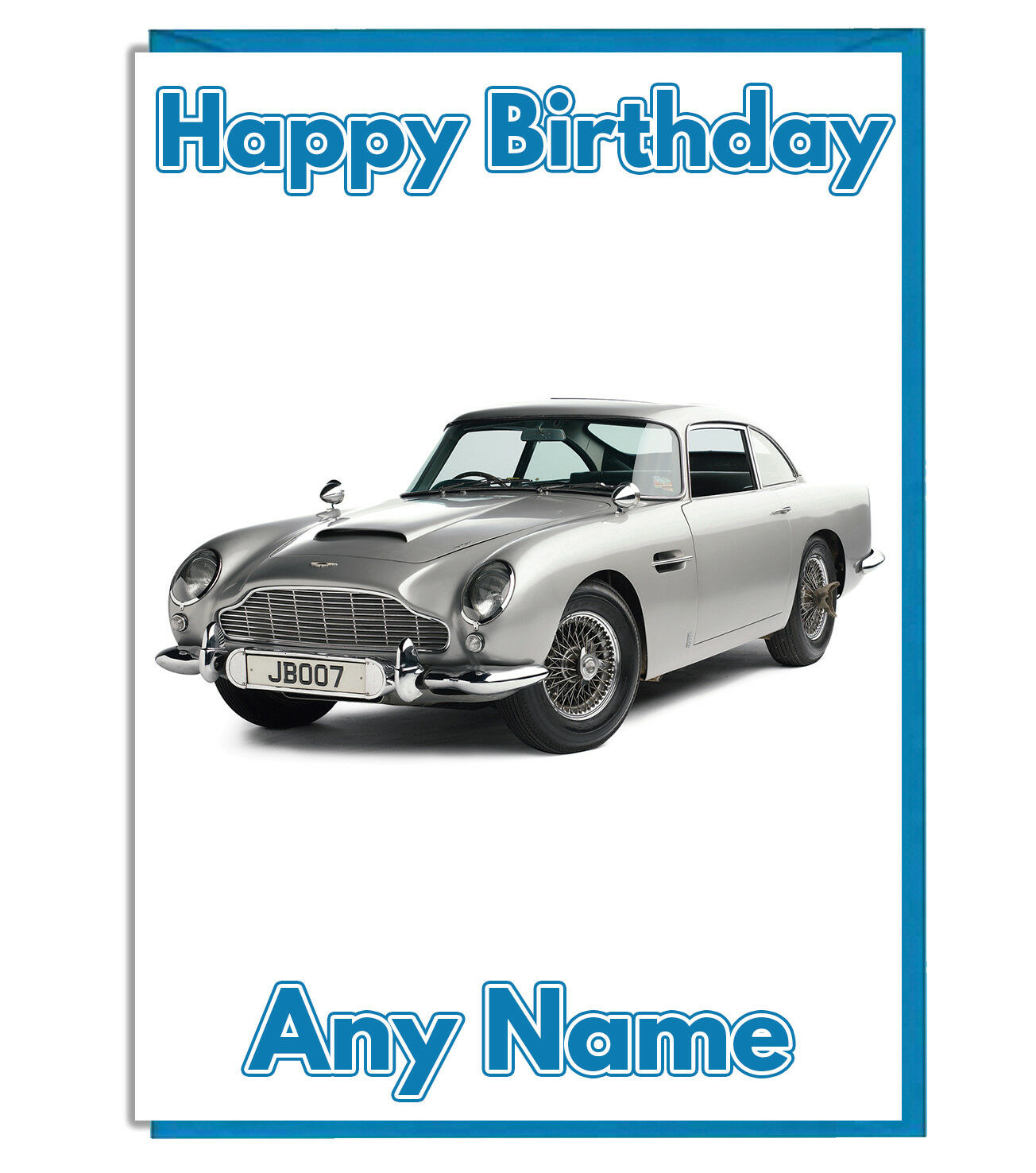 PERSONALISED ASTON MARTIN James Bond Birthday Card Son Boys