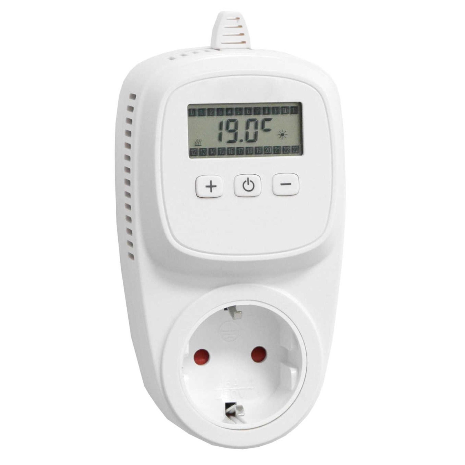 universalthermostat zwischenstecker steckdosen thermostat heizen k hlen sensor eur 39 99. Black Bedroom Furniture Sets. Home Design Ideas