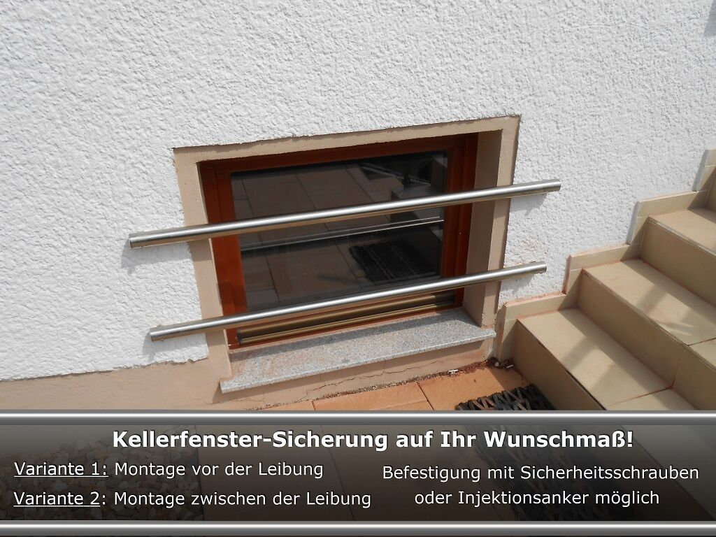 kellerfenster einbruchschutz kellerfenster sicherung auf ma gefertigt edelstahl eur 95 00. Black Bedroom Furniture Sets. Home Design Ideas