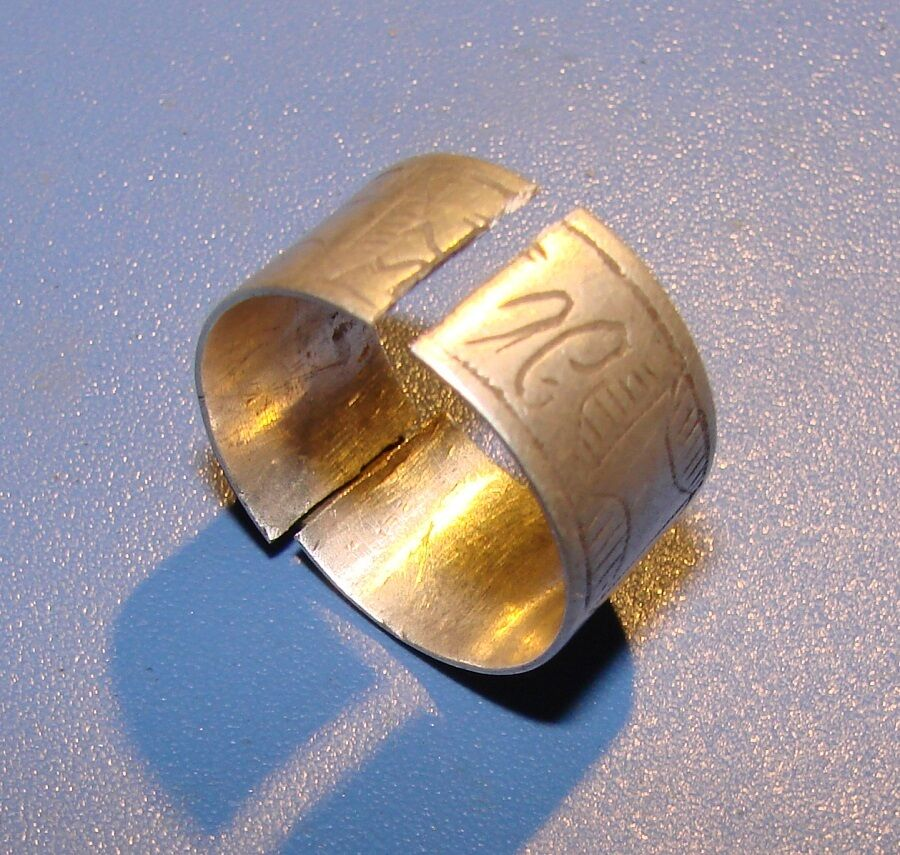 Ancient SILVER ring  Middle Ages original