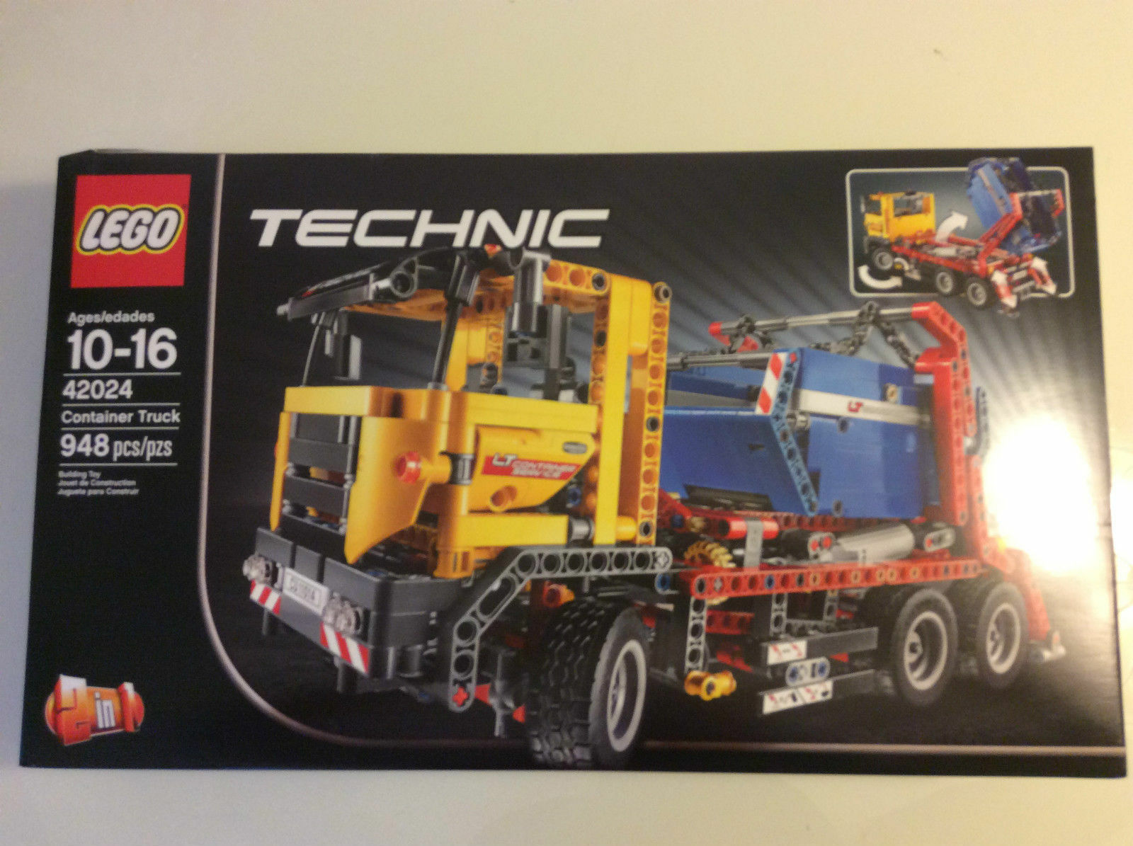 New Seal Retired Lego Technic 42024 Container Truck 2 In 1 Road