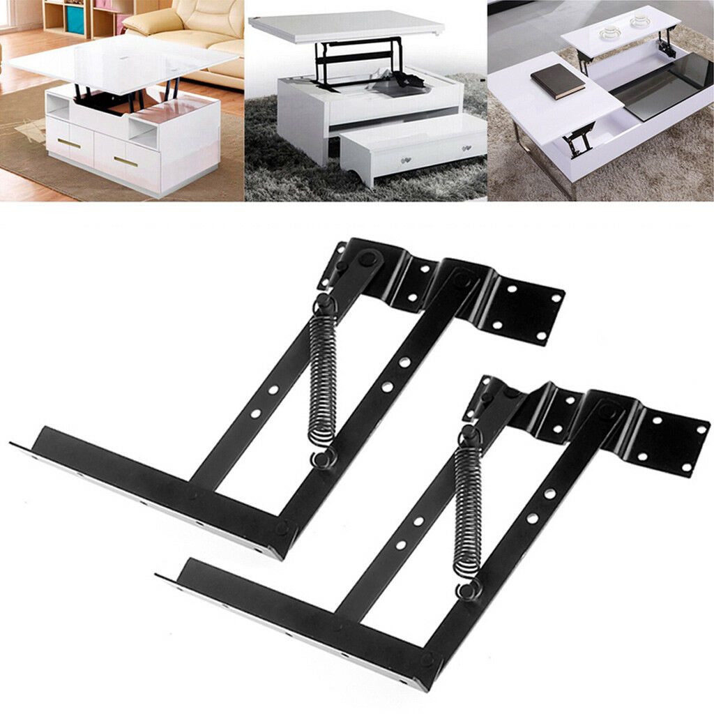 1pair Lift Up Top Coffee Table Lifting Frame Mechanism Spring Hinge Hardware Cad