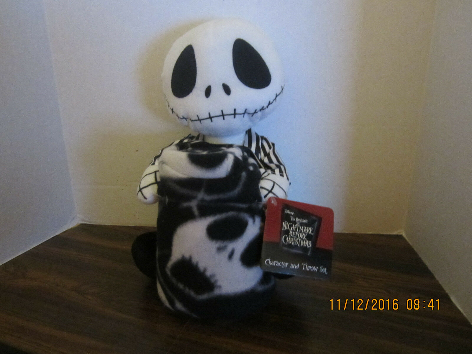 DISNEY THE NIGHTMARE Before Christmas Jack Skellington Doll & Fleece ...